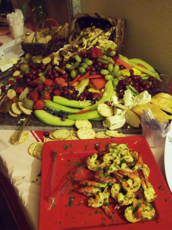 This was only half one table! Do you see the huge chunks of Brie?!!!