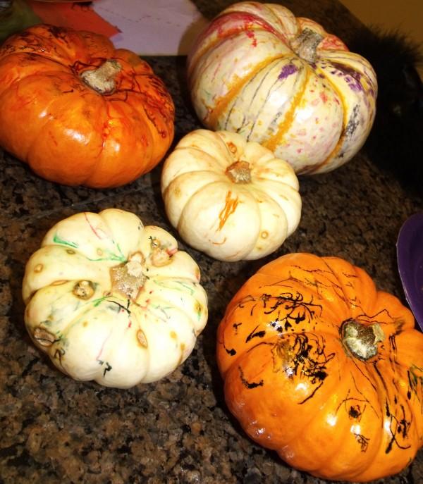 Artistic Abstract Pumpkins