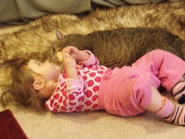 Emma snuggling