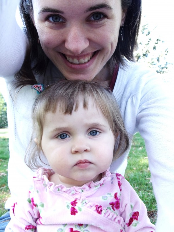 Emma and I- she has striking blue eyes