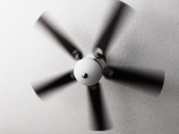 Our ceiling fan in action