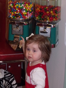 Emma found the candy...oh man :)