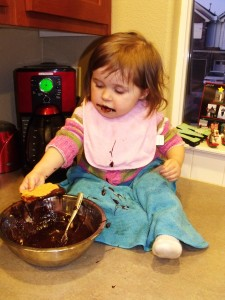 Emma chowing down